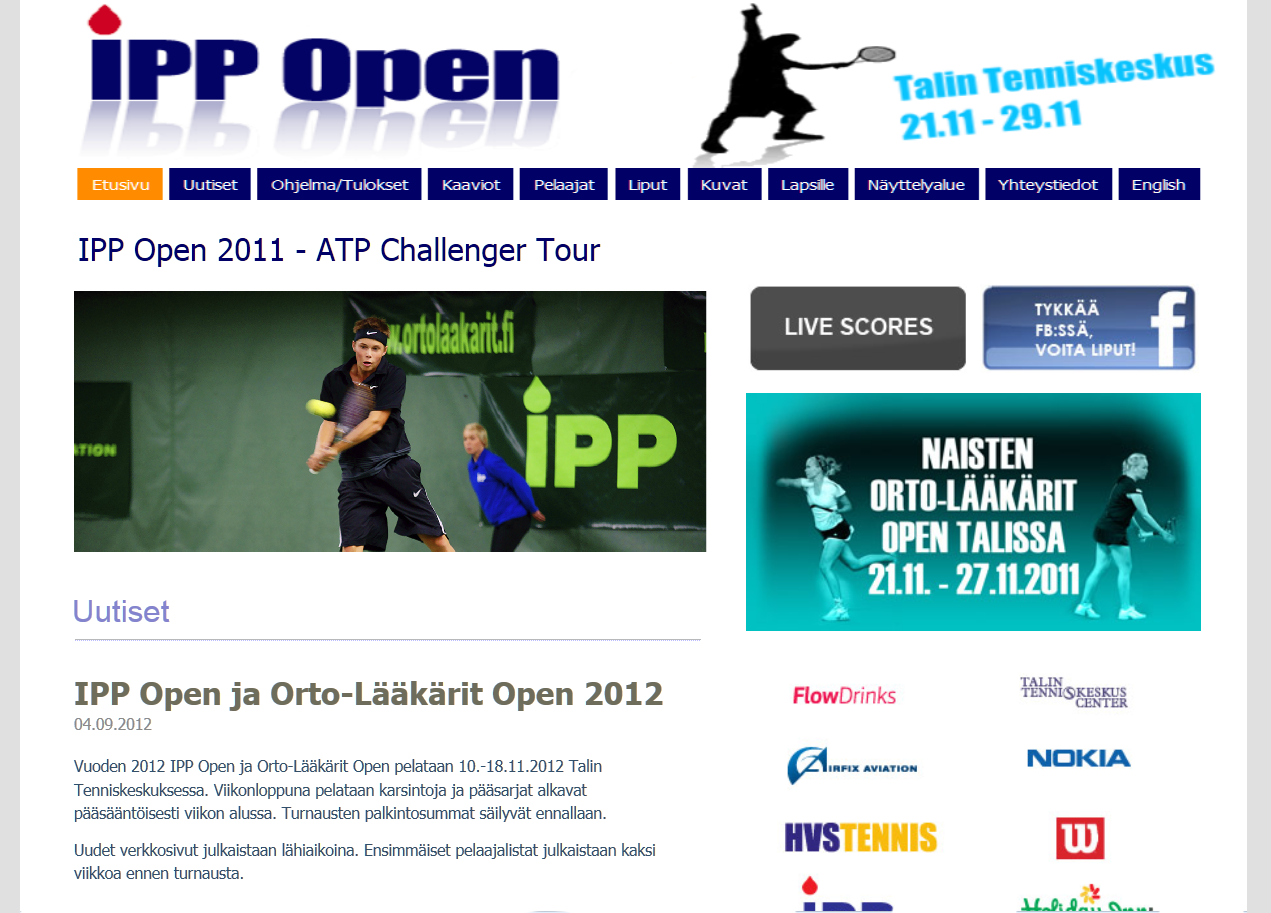 Ipp Open nettisivut