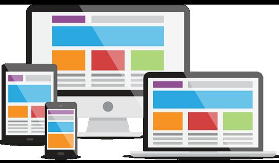 Neljä eri päätelaitetta joiden ruudulla samat nettisivut